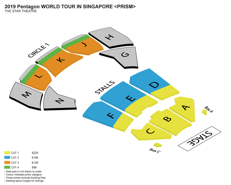 PENTAGONシンガポール座席表