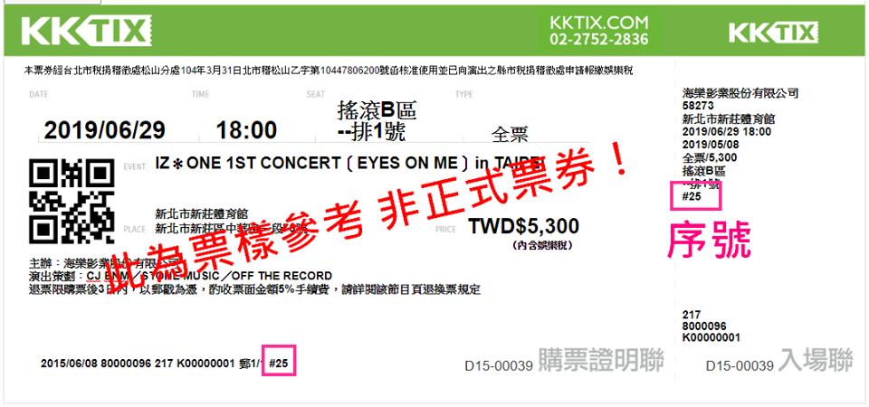 IZ*ONE台湾チケット