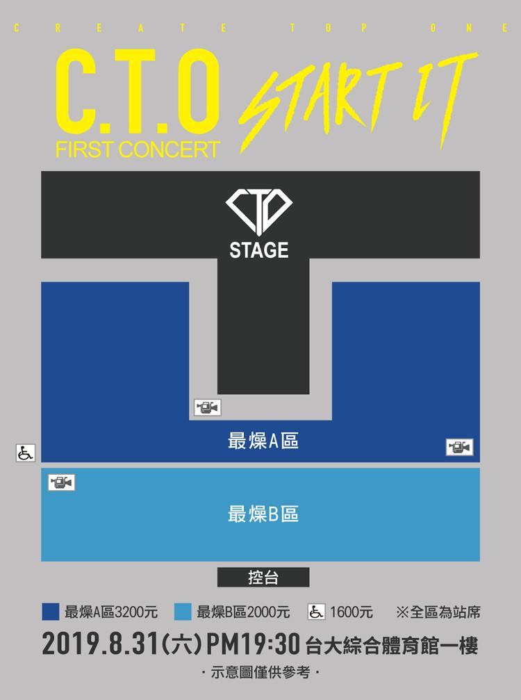 C.T.O台湾座席表