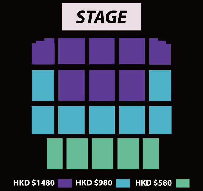 PENTAGON香港座席表