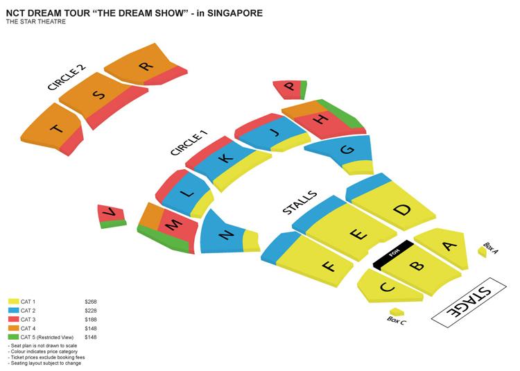 NCTシンガポール座席表